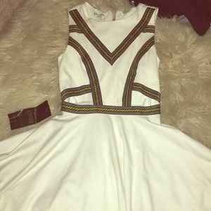 Bebe cut out white cocktail dress